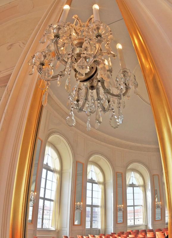 Zinn Amalgamspiegel - Ovalsaal Hubertusburg
