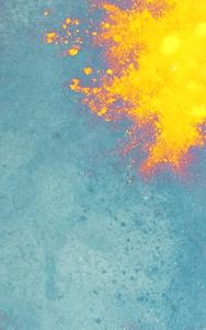 Antik Spiegel Blau mit Gelb